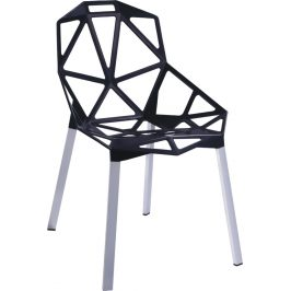 Culty Designová černá kovová židle One Chair
