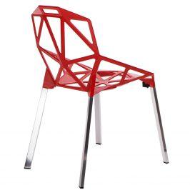 Culty Designová červená kovová židle One Chair