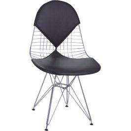 Culty Černá kovová židle DKR Siluet
