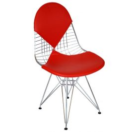 Culty Červená kovová židle DKR Siluet