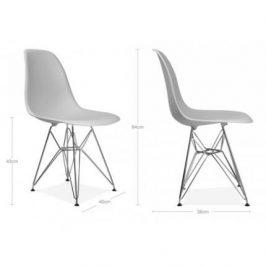 Culty Bílá plastová židle DSR s chromovanou podnoží