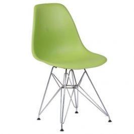 Culty Světle zelená plastová židle DSR Židle do kuchyně