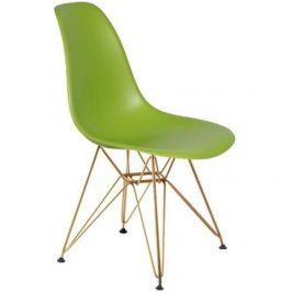 Culty Světle zelená plastová židle DSR