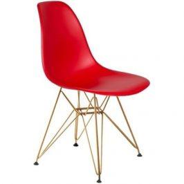 Culty Červená plastová židle DSR