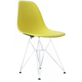 Culty Limetkově žlutá plastová židle DSR