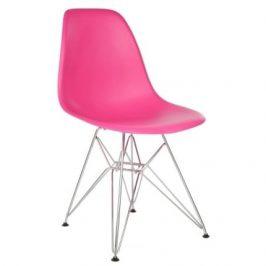 Culty Růžová plastová židle DSR