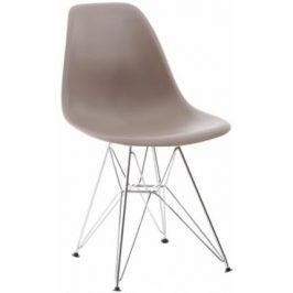Culty Plastová židle DSR v provedení cappuccino