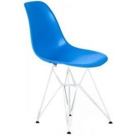 Culty Královsky modrá plastová židle DSR