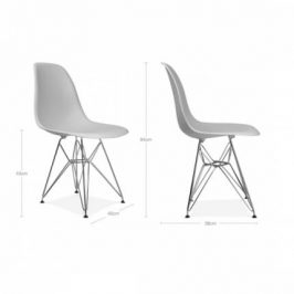 Culty Plastová židle DSR v provedení Sky Blue