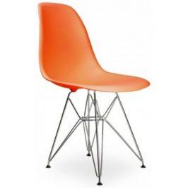 Culty Oranžová plastová židle DSR Židle do kuchyně