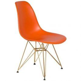 Culty Oranžová plastová židle DSR