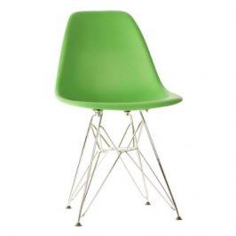 Culty Zelená plastová židle DSR Židle do kuchyně