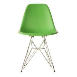 Culty Zelená plastová židle DSR