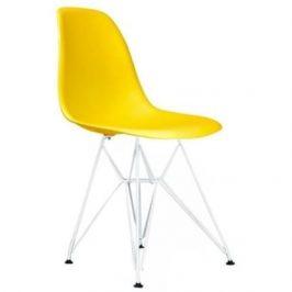 Culty Žlutá plastová židle DSR