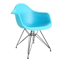Culty Sky blue plastová židle DAR