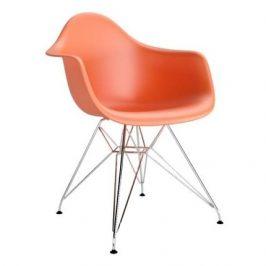 Culty Oranžová plastová židle DAR