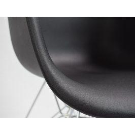 Culty Černá plastová židle DAR