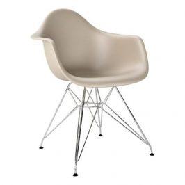Culty Béžová plastová židle DAR