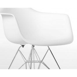 Culty Bílá plastová židle DAR s chromovou podnoží