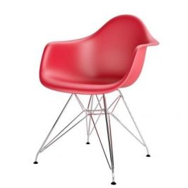 Culty Červená plastová židle DAR