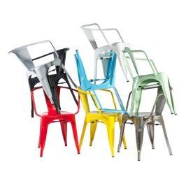 Culty Jídelní židle Tolix 45 s područkami, bílá