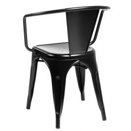 Culty Jídelní židle Tolix 45 s područkami, černá