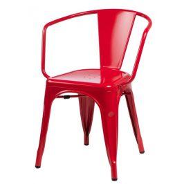 Culty Jídelní židle Tolix 45 s područkami, červená
