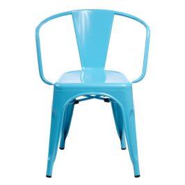 Culty Jídelní židle Tolix 45 s područkami, modrá Židle do kuchyně