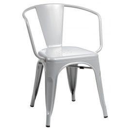 Culty Šedá kovová jídelní židle Tolix 45 s područkami