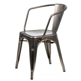 Culty Jídelní židle Tolix 45 s područkami, metalická Židle do kuchyně