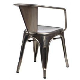 Culty Jídelní židle Tolix 45 s područkami, metalická