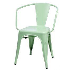 Culty Jídelní židle Tolix 45 s područkami, zelená