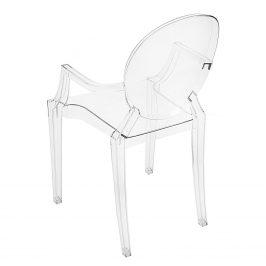 Culty Transparentní designová židle Ghost s područkami
