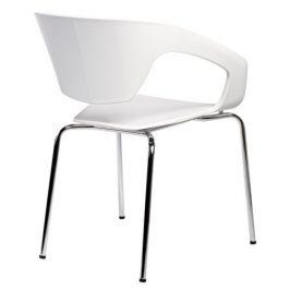 Culty Bílá plastová židle Sambuci