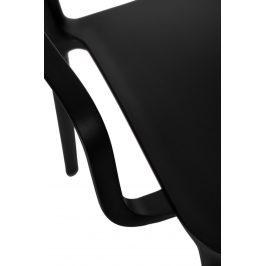 Culty Černá jídelní židle Lexi s područkami