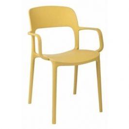 Culty Jídelní židle Lexi s područkami, žlutá Židle do kuchyně