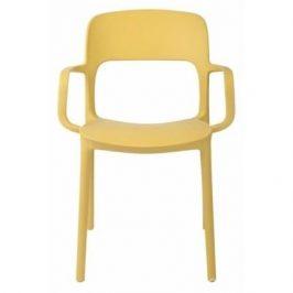 Culty Jídelní židle Lexi s područkami, žlutá