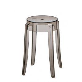 Culty Transparentní kouřová plastová stolička Ghost 46