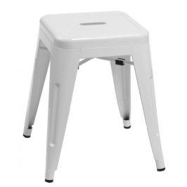Culty Bílá celokovová stolička Tolix 46 Židle do kuchyně