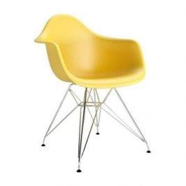 Culty Žlutá plastová židle DAR Židle do kuchyně
