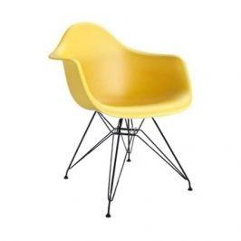 Culty Žlutá plastová židle DAR