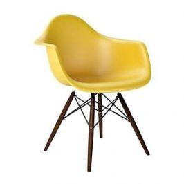 Culty Designová židle DAW, žlutá