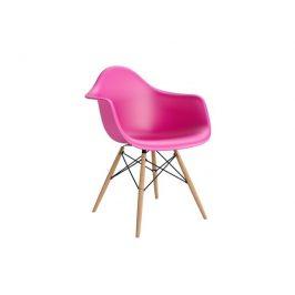 Culty Designová židle DAW, růžová