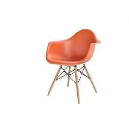 Culty Designová židle DAW, oranžová