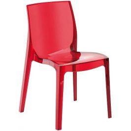 SitBe Červená transparentní židle Simple Chair