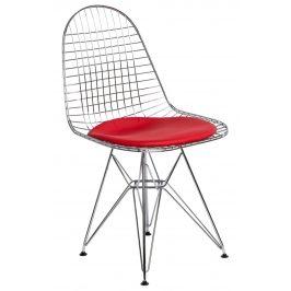 Culty Červená kovová židle DKR