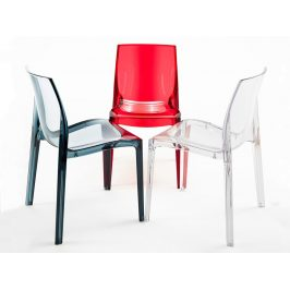 SitBe Transparentní kouřová židle Simple chair