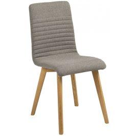 SCANDI Světle šedá čalouněná jídelní židle Areta