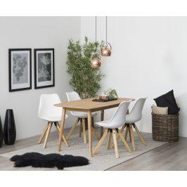 SCANDI Bílá plastová jídelní židle Damian
