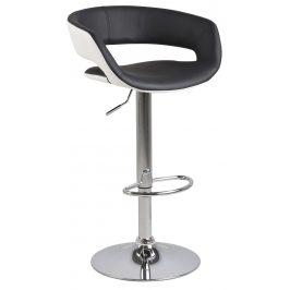 SCANDI Černá čalouněná otočná barová židle Garry